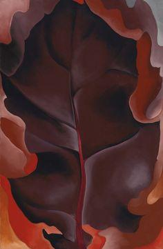 Autumn Leaf II  (1927), Georgia O'Keeffe, #art