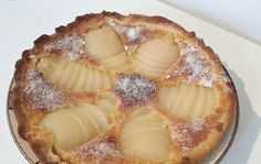 TARTE AMANDINE AUX POIRES Camembert Cheese, Food And Drink, Dairy, Pie, Desserts, Recipes, Sweet Pie, Pies, Torte