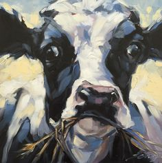 Sunny Daze. Cow painting Original impressionistic oil by LaveryART