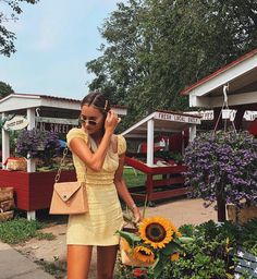 Beauty looking adorable in the Marseille Dress. Out Of Style, Versace, Going Out, One Shoulder, Feminine, Slip On, Street Style, Photo And Video, Yellow