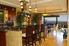 hawaiian island plantation style custom home, lots of open space