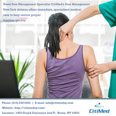 CitiMed has a history of providing first rate pain management care to its patients. CitiMed's team of highly experienced doctors will diagnose the patient's condition and then suggest various treatment options...http://goo.gl/RkwhAq