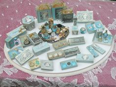 Miniature turquoise perfumes, etc. by Manuela277