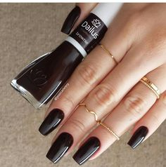 Black long nails