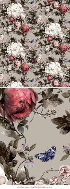 Summer Squall wallpaper and fabric design by Ellie Cashman Design www.elliecashmandesign.com