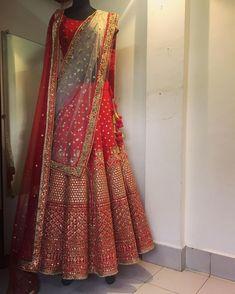 indian wedding wear during pregnancy Wedding Lehenga Designs, Designer Bridal Lehenga, Indian Bridal Lehenga, Red Lehenga, Anarkali, Indian Wedding Wear, Indian Bridal Outfits, Indian Wear, Indian Weddings