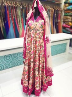 Floral is trending and this gorgeous designer salwar suit is the hot pick! In-stores now in Mumbai & Ahmedabad...