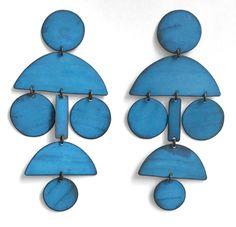 Image of Pom Pom Chandelier Earrings