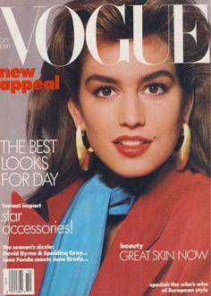 Vogue magazine - 1 October 1986 - Cindy Crawford