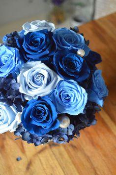 Blue.. #preserved flower