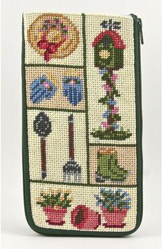 Eyeglass Case - Garden Patchwork - Needlepoint Kit