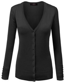 Classic Cardigan in v neck or crew neck. I love them both