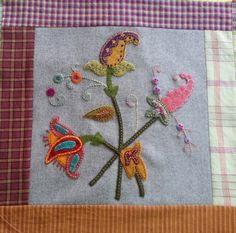 Jacobean Bouquet Quilt Block a Month October Join Now!