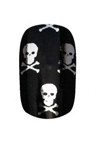 Kooky Nail Wraps - Skull and Crossbones | Hollywood Nail Design £5.50