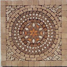 Tumbled Marble Travertine Medallion For Backsplash Shower Floor Or Wall Art By Stone