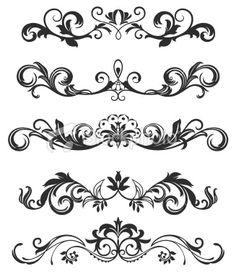scroll design Royalty Free Stock Vector Art Illustration