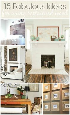 Reclaimed Wood-A Hot Trend & 15 Fabulous Ideas For Using It