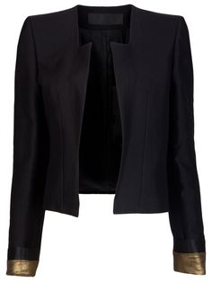 Haider Ackermann  the perfect blazer for date night.  dress it up or down; classic with a bit of edge trimmed in glam.