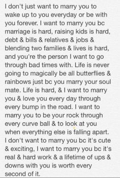 Wedding Quotes : I want to marry you because. Wedding Vows That Make You Cry, Best Wedding Vows, Wedding Vows To Husband, Wedding Quotes, Funny Wedding Vows, Dream Wedding, Boho Wedding, Marriage Is Hard, Marriage Thoughts