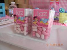 What adorable favors at a Lalaloopsy party!  See more party ideas at CatchMyParty.com!  #partyideas #lalaloopsy