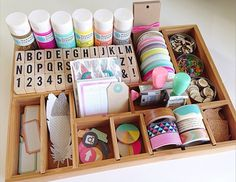 craft organization ideas with a printer tray | NoBiggie.net
