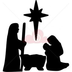 ... , Mary and Baby Jesus for Papercraft/Window/Template /Stencil /Mural