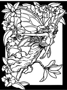 free coloring pages fairies, trees | inkspired musings: Spring Fairies, budget paper craft and paperdolls