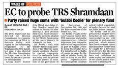 Delhi High Court directed election commission to probe Telangana Rashtra Samiti (TRS) on political funding. #LegalLawyersinHyderabad        #LegalAdvocatesinHyderabad #AbhayaLegalServices                  #LegalServicesinHyderabad