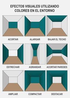 Efectos visuales - Home Decoration Ideas Design Room, Design Design, Small Room Design, Design Table, Interior Design Tips, Interior Decorating, Hallway Decorating, Decorating Ideas, Decor Ideas