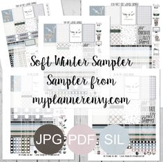 Free Printable Soft Winter Samplers from myplannerenvy.com