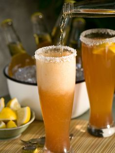 This is for my H-town girl, AC!  The Michelada: A spicy twist on a classic brew. Perfect for game days!