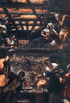 Adoration of the Shepherds, by Jacopo Tintoretto (1518-1594)