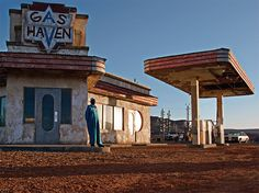 Abandoned Hollywood horror movie set in the North African desert. Photo by Rä di Martino.