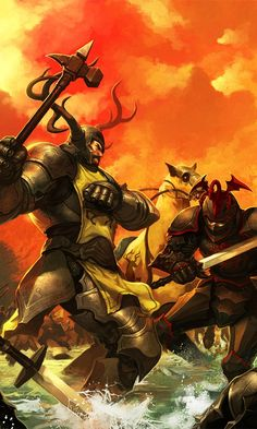 ilustracion: la lucha en el Tridente entre Robert Baratheon y Rhaegar Targaryen