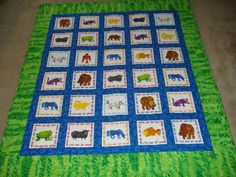 Brown Bear Crib  Quilt by MurphysHouse on Etsy, $135.00