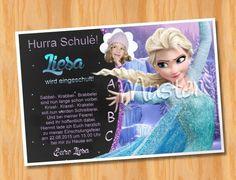 Einladungskarten Einladung Einschulung Frozen Von Ausgefallene Fotokarten  Auf DaWanda.com