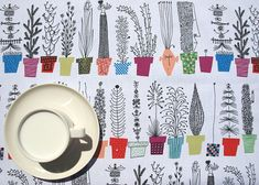 Hey, I found this really awesome Etsy listing at https://www.etsy.com/listing/153840587/tablecloth-white-fun-plants-herbs