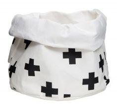 Via Maree & Co | Paper Storage Bag Crosses | Black and White