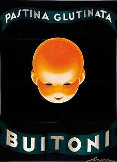 Poster by Federico Seneca, ca. 1930, Pastina Glutinata Buitoni. (I)