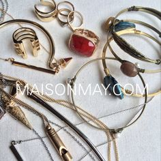 HOLIDAY JEWELRY PERFECTION! http://maisonmay.com is your place to find unique fashions and one-of-a-kind accessories that make you happy. Shop today! #NewArrivals #Christmas #Joy #treasures #jewelry #perfect #gifts #stylish #unique #Fashion