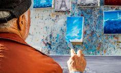 painter paris artist monmartre streetphotography