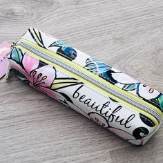 Secret garden 'beautiful ' small make up bag. Secret garden 'beautiful ' small make up bag. Sensory Bags, Makeup Wipes, Make Up Remover, Cotton Drawstring Bags, Busy Bags, Garden S, Bag Making, Cosmetic Bag, Trumpet Vines