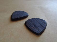 Pair Of Coconut Guitar Picks for Mandolin Bass by TarcisiusDesign