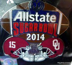2014 Allstate #SugarBowl Pin #OklahomaSooners vs Alabama Crimson Tide #SEC #AlabamaCrimsonTide