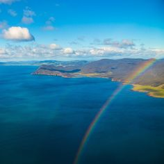 Beautiful blue skies and a double rainbow over Tassie's east coast. #eastcoast #tasmania #rainbow #discovertasmania Image Credit: Graham Michael Freeman