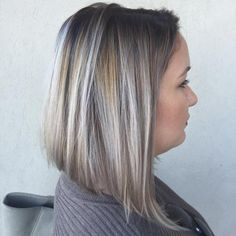"""""""#Repost @rickystyles_ ・・・ Today's Fall Look! Beautiful #icybronde #Lob  #Balayage #Sombre #livedinhair #Hairpainting #wellalife #Ombre #Oribeobsessed…"""""""