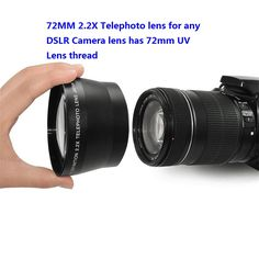Professional HD 72mm 2.2x Telephoto Lens + Lens Bag for Canon Nikon Pentax Olympus Any DSLR with 72mm Filter Size Lens thread