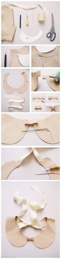 Diy Bow collar craft bow tutorial