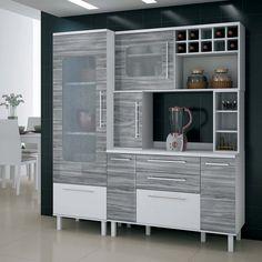 Cozinha Compacta Palmeira Tâmara X com 4 Peças - Branco/Gris - Cozinha Compacta no CasasBahia.com.br