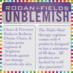 Rodan and Fields Unblemish... Have you heard the News, Rodan and Fields is the #1 Premium Acne brand in the U.S.!!!! Why wast your money on other Acne Products? Call or Message me, I can help you! 256-490-8928